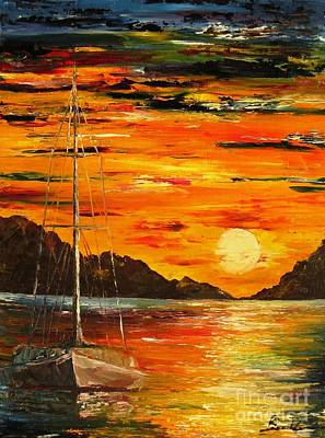 Waiting For The Sunrise Print by AmaS Art