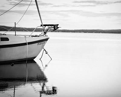 Sailboat Photograph - Waiting Horizon Cropped by Kevin Alpert