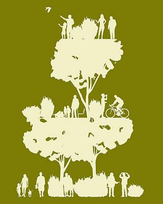 Walk In The Park Print by Bojan Bundalo