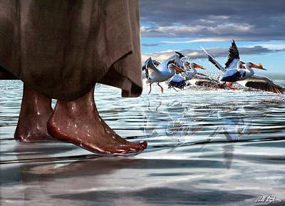 Messiah Digital Art - Walk On Water by Bill Stephens