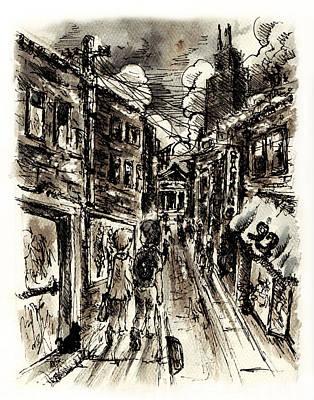 Walkin In The City Print by Rachel Christine Nowicki