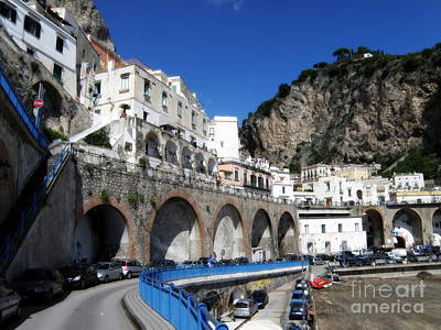 Italy Photograph - Walking Along The Amalfi Coast by Tanya  Searcy