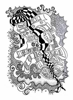 Walking By Print by Fla Arakaki