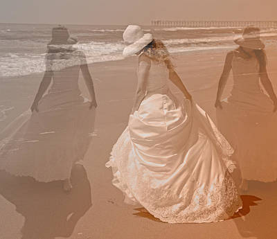 Sea View Photograph - Walking In A Dream by Betsy Knapp