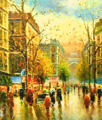 Walking In The Rain Original by Georgiana Romanovna