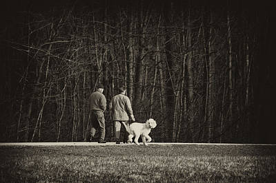 Walking The Dog Print by Off The Beaten Path Photography - Andrew Alexander