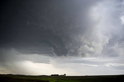 Wall Cloud In The Storm Print by Jennifer Brindley