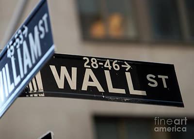 Leda Photograph - Wall Street by Leslie Leda