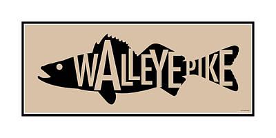 Walleye Pike Print by Geoff Strehlow