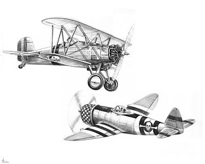 War Airplanes Print by Murphy Elliott