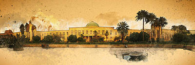 War In Iraq Sadaam's Palace Print by Jeff Steed