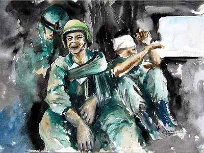 Iraq War Painting - War What Is It Good For. . . Nothing by Leonardo Ruggieri