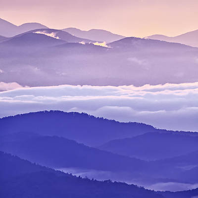 Warm And Cool In The Blueridge Mountains Print by Rob Travis