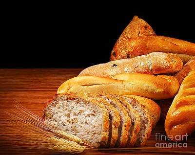 Baguettes Photograph - Warm Baked Bread by Anna Omelchenko