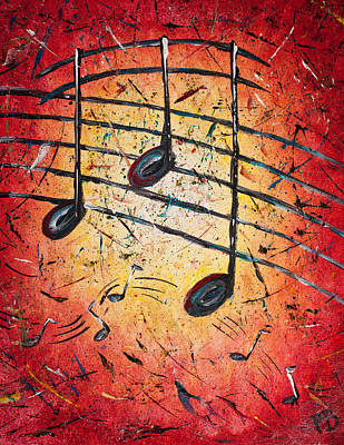 Nashville Painting - Warm Notes by Paul Bartoszek