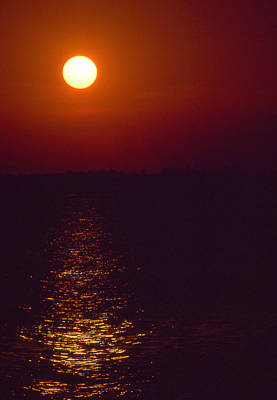 Warm Sunset Print by Al Hurley