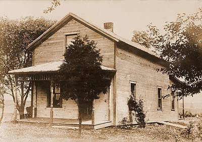 Ohio House Photograph - Warren G. Harding 1865-1923, Birthplace by Everett