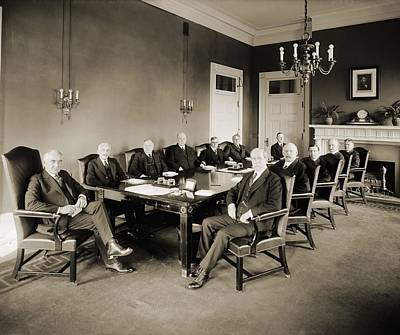 Warren G. Harding S Cabinet In 1921 Print by Everett