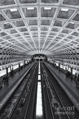 Washington Dc Metro Station II Print by Clarence Holmes