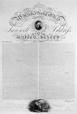 Washington: Farewell, 1796 Print by Granger