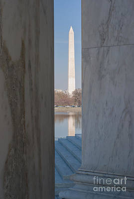 Jefferson Memorial Photograph - Washington Monument From Jefferson Memorial I by Clarence Holmes