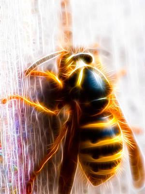 Wasp.insect Digital Art - Wasp by Hakon Soreide