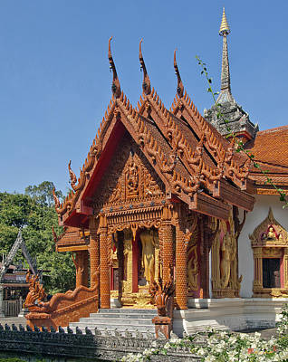 Wat Ban Tha Bo Ubosot Dthu200 Print by Gerry Gantt