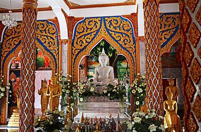 Wat Chalong 4 Print by Metro DC Photography