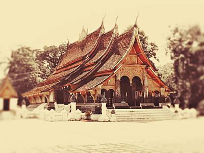 Wat Xieng Thong Print by Danny Van den Groenendael