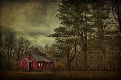 Red Barn. New England Photograph - Watching Over Me by Evelina Kremsdorf