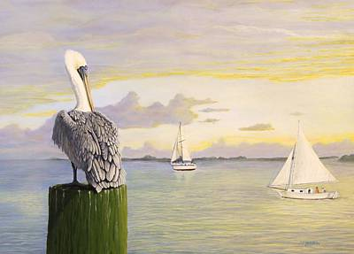 Sailboat Painting - Watching The Boats Sail By by Jim Ziemer