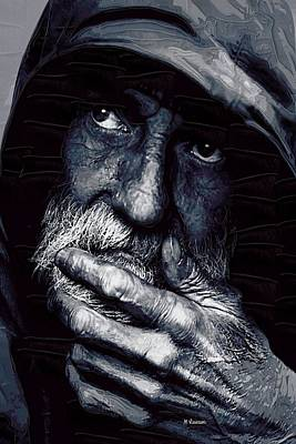 Contemplative Painting - Watchman by Dr Marshall Lawson