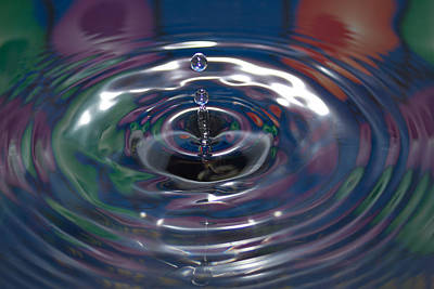 Droplet Photograph - Water Drop No.16 by Nadya Ost