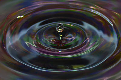 Reflection Photograph - Water Drop No.7 by Nadya Ost