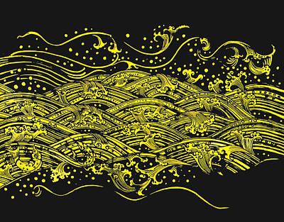 Buddhism Painting - Water Pattern by Setsiri Silapasuwanchai