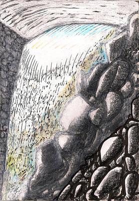 Mountain Spring Falls Monterey Ma Print by Al Goldfarb