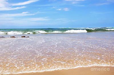 Water To Waves Print by Kaye Menner