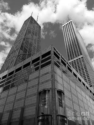 Water Tower Place And John Hancock Print by David Bearden