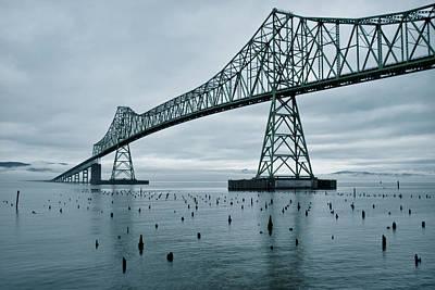 Oregon Photograph - Water Under The Bridge by Dan Mihai
