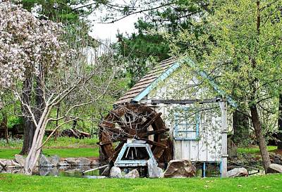Water Wheel Print by Jim Goldseth