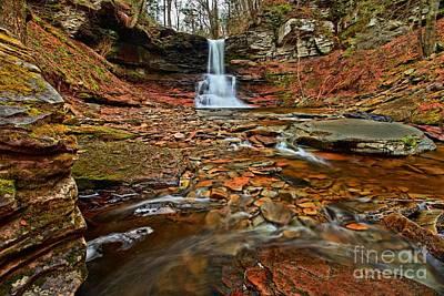 Pa State Parks Photograph - Waterfall Canyon by Adam Jewell