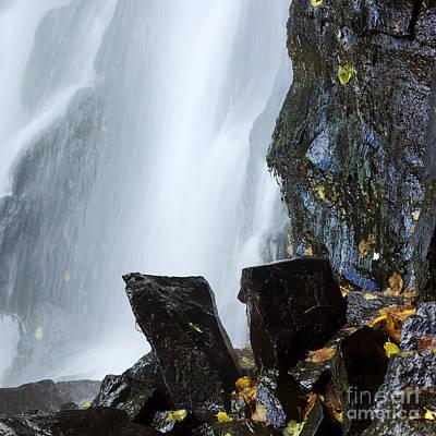 Waterfall In Auvergne Print by Bernard Jaubert