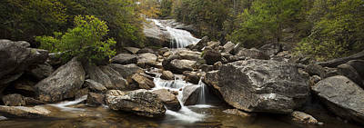Wood Photograph - Waterfall Panorama by Andrew Soundarajan