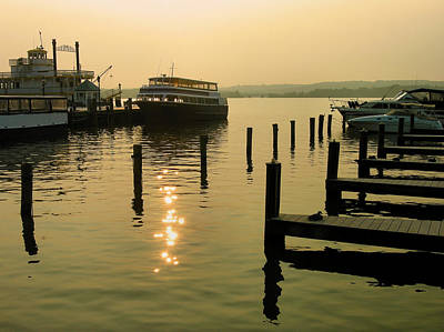 Waterfront Docks Print by Steven Ainsworth
