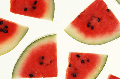 Watermelon Print by Photo Researchers