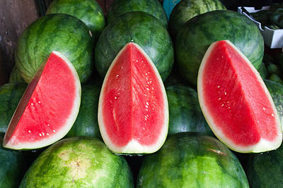 Y120831 Photograph - Watermelons by Andrew W.B. Leonard