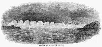 Waterspouts, 1856 Print by Granger