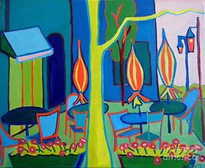 Watertown Cafe Print by Debra Bretton Robinson