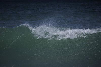 Wave Sprey On A Windy Day At Jupiter Beach Print by Robert Valentine