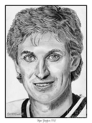 Lester B. Pearson Drawing - Wayne Gretzky In 1992 by J McCombie